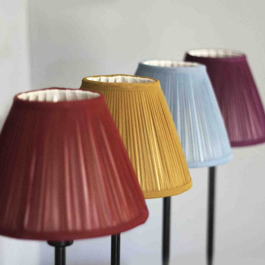 Mustard Chiffon Gathered Lampshade By Whitehorn