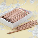 Large Pack Personalised Natural Wood Pencils