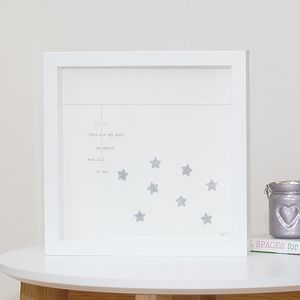 Personalised Glitter Stars Framed Artwork