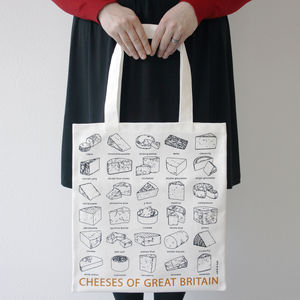 'Cheeses Of Great Britain' Canvas Bag