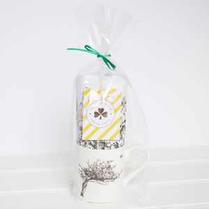 Windswept Hawthorn Tree Mug And Tea Towel Set
