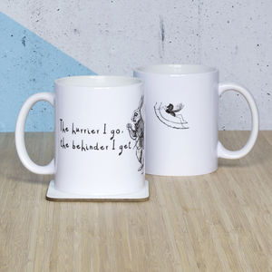 Alice In Wonderland 'The Hurrier I Go' Mug