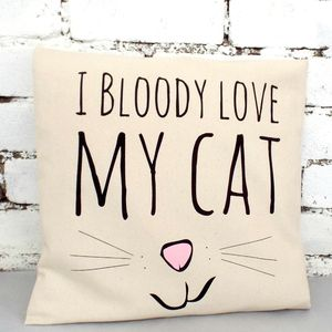 'Bloody Love My Cat' Cushion Cover - pet-lover