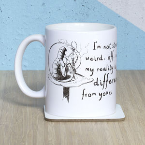 Alice In Wonderland 'I'm Not Strange' Mug