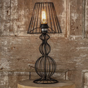 Industrial Style Cage Lamp - desk lamps