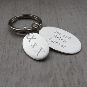 Personalised Silver Tag Key Ring