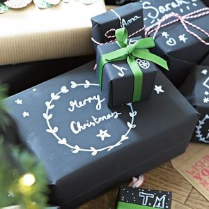 Chalk Board Wrapping Kit - wrapping paper