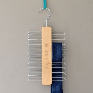 Personalised Handwriting Tie Hanger - hooks, pegs & clips