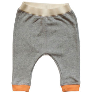 Baby Trousers With Contrast Cuffs