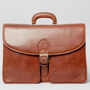 The Finest Large Italian Leather Briefcase. 'Tomacelli'