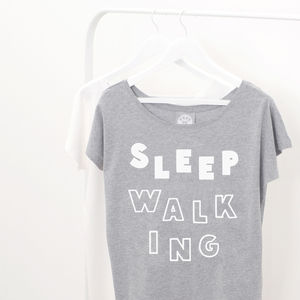 'Sleep Walking' Women's Loose Fit T Shirt - slogan fashion