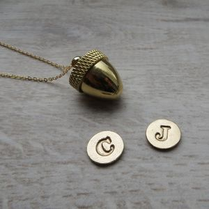 Secret Container Acorn Locket Necklace