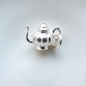 Solid Silver Teapot Charm - charm jewellery