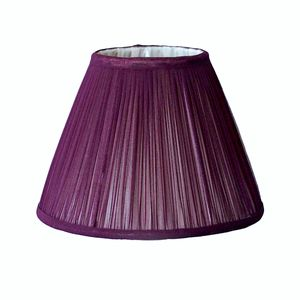 Plum Chiffon Gathered Lampshade - lighting