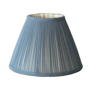 Slate Chiffon Gathered Lampshade - lighting