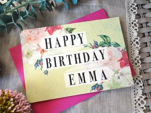 Personalised Vintage Inspired Birthday Card