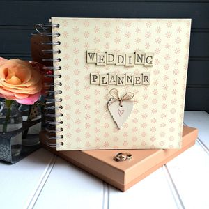 Retro Style Wedding Planner Journal In Gift Box