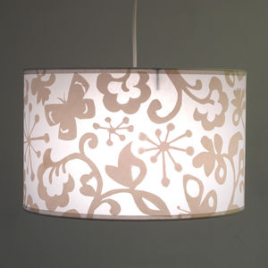 Large Pendant Butterfly Shade - bedroom