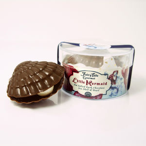 Little Mermaid Sea Salted Dark Chocolate Seashell Pearl - luxury chocolates