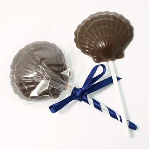 Three Little Mermaid Sea Salted Dark Chocolate Lollipop - edible favours