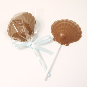 Lil Mermaid Sea Salted Caramel Chocolate Lollipop - wedding favours