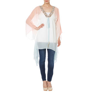 Ivory Ombre Kaftan - tops & t-shirts