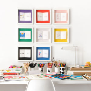 Child's Drawing Personalised Framed Book - gifts from younger children
