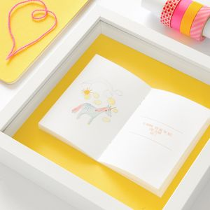 Child's Drawing Personalised Framed Book - pictures & prints for children
