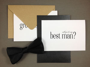 'Will You Be My Groomsman?' Wedding Card - be my bridesmaid?