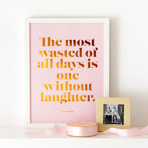 Laughter Copper Foil Poster - posters & prints