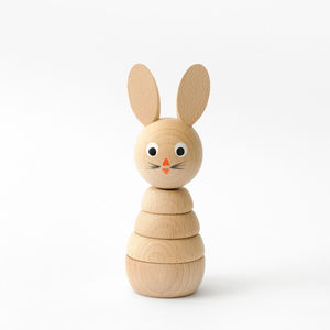 Wooden Rabbit Stacking Toy - shop by recipient