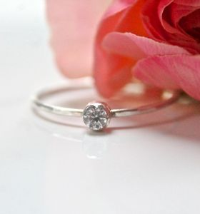 Sterling Silver And Cubic Zirconia Ring - rings