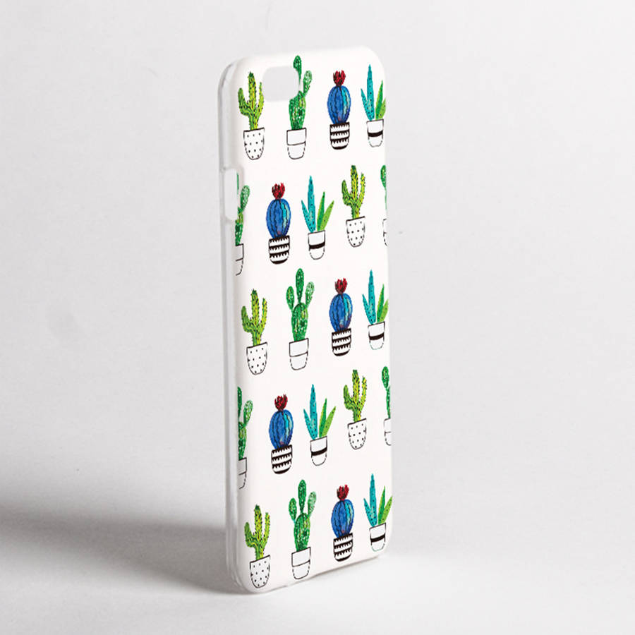 Cactus print phone case by dessi designs for Design a case
