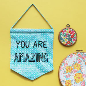'You Are Amazing' Flag - door plaques & signs