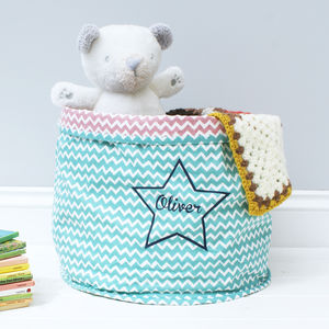 Personalised Star Storage Basket - children's room