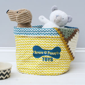Personalised Pet Storage Basket - home accessories