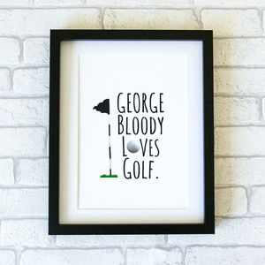 Golf Print - gifts for golfers