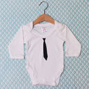 'Black Tie' Baby Grow