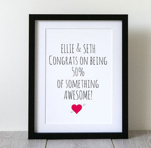 'Awesome Couple' Love Print