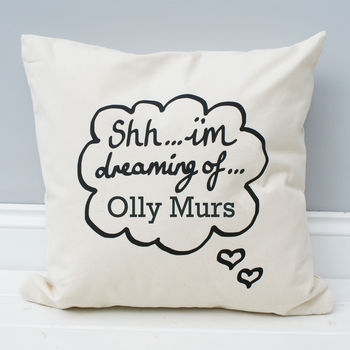 Personalised 'I'm Dreaming Of…' Cushion