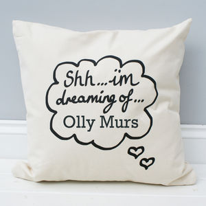 Personalised 'I'm Dreaming Of…' Cushion - cushions
