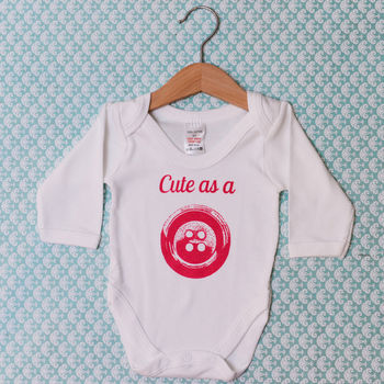 'Cute As A Button' Baby Grow