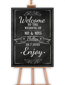 Chalkboard Wedding Sign - outdoor decorations