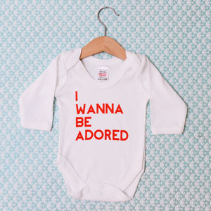 'I Wanna Be Adored' Baby Grow - babygrows