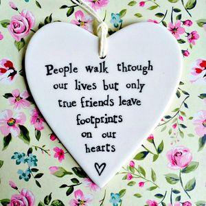 'True Friends Leave Footprints' Hanging Decoration - view all sale items