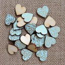 2cm Duck Egg Blue Hearts