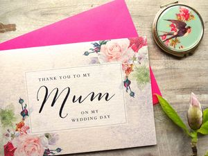 To My Mum On My Wedding Day Card - wedding, engagement & anniversary cards