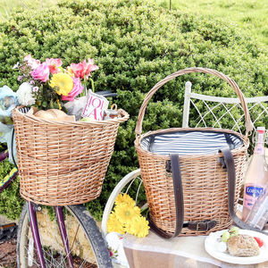 Four Person Bicycle Duo Picnic Basket Set
