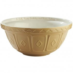 Personalised Tan Mixing Bowl