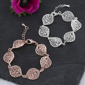 Filigree Leaf Bracelet